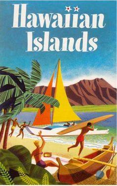 Vintage Plakat, Hawaii