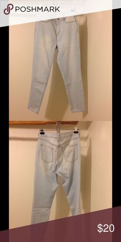 Tokyo Darling High Waisted Ankle Jegging Love the wash of these! Looks great with nudes and pastels. Just too big on me now. Bought in size 12 but would also fit a size 10. Thin denim stretch material. Only worn a few times. Aeropostale Jeans Ankle & Cropped