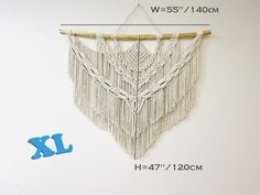 Macrame Wall Hanging in different sizes Boho Woven Wall image 7  wall hangings, macrame headboard, macrame wall hanging, wall tapestry, boho wall decor, woven wall hanging, bohemian decor, Farmhouse decor, living room decor, weaving wall hanging, boho wedding decor, boho wedding arch, macrame mural