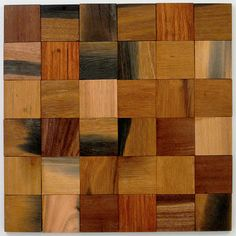 "Avenue Mosaic 2"" x 2"" Wood Mosaic Tile in Teak"