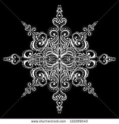 I've always wanted a snowflake tattoo more than anything. I'd love something like this only in black