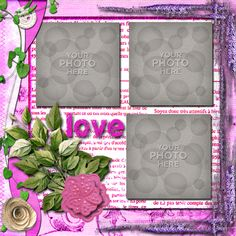 Digital Scrapbooking Kits   Pinkadinky Template-(CatDes)   Decorative, Family, Friends, Girls, Love, Memories, Vintage, Weddings   MyMemories