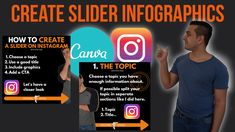If you ever asked yourself how to create slider infographics on instagram or for instagram then you are at the exact right place and this is the perfect video for you.   We are going to use a template for our infographic slider which is already prepared.   This will be a full instagram content tutorial and we are going to use canva in the whole tutorial. We take a detailed look at how to create slider infographics on instagram and I will also share some instagram tips with you. Perfect Video, Perfect Gif, Free Instagram, Instagram Tips, Best Titles, Sliders, Infographics, Ads, Content