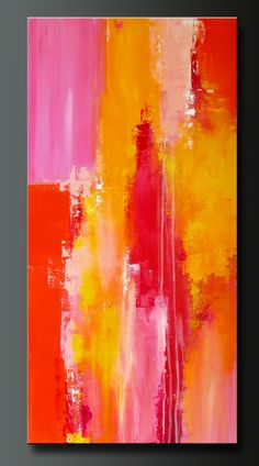 Sorbet 3 - 30 x 18 - Abstract Acrylic Painting - Contemporary Wall Art by CharlensAbstracts (Charlen Williamson) http://www.etsy.com/listing/100840436/sorbet-3-30-x-18-abstract-acrylic