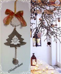 sagoma di abete in legno con gessetto profumato alla lavanda a forma di stella di Natale