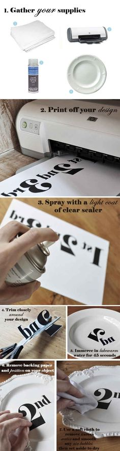 Permanent Decals with Waterslide Decal Paper | 22 New Ways To Use Your Printer