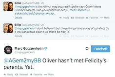 Arrow - Marc Guggenheim about Felicity's parents ... and Oliver.