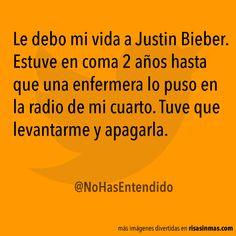 Le debo mi vida a Justin Bieber