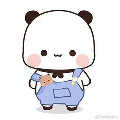 Cute Panda Cartoon, Cute Anime Cat, Cute Cartoon Pictures, Bear Cartoon, Chibi Panda, Chibi Cat, Cute Chibi, Iphone Wallpaper Cat, Cute Panda Wallpaper