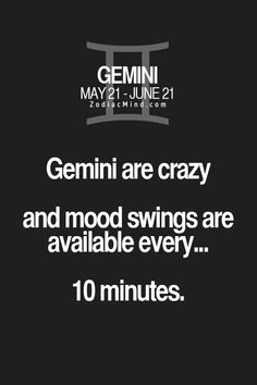 Mood swings...