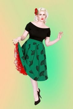 fanny skirt green by bettie page clothing $90.00 (plus sizes too!)