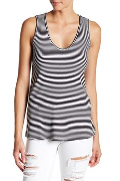 V-Neck Stripe Tank