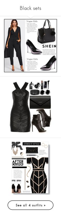 """Black sets"" by curlyelias ❤ liked on Polyvore featuring Balmain, Yves Saint Laurent, Balenciaga, West Coast Jewelry, INIKA, NARS Cosmetics, Barneys New York, Old Navy, Command and Valentino"