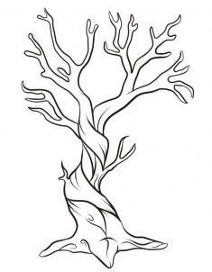 How to draw a twisted tree.