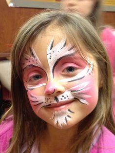 Pink Cat Face Paint