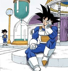 Dragon 🐉 Ball Z: Goku & Gohan training in the Hyperbolic Time Chamber Dragon Ball Gt, Dragon Ball Z Shirt, Dragon Ball Image, Dbz Manga, Manga Dragon, Bd Comics, Anime Comics, Orochimaru Wallpapers, Anime Echii