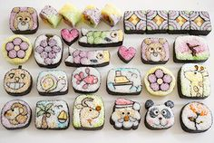 Sushi Art, Sushi Sushi, No Cook Desserts, Dessert Recipes, Cute Food Art, Muffin Tin Recipes, Taiwanese Cuisine, Taiwan Food, Sushi Recipes