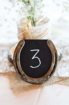 Rustic table number  #cowgirl #wedding #cowgirlwedding   http://www.islandcowgirl.com/