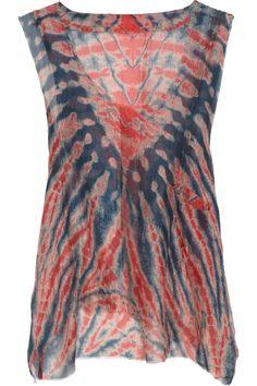 Raquel Allegra, Sheer tie-dye silk tank -  $335
