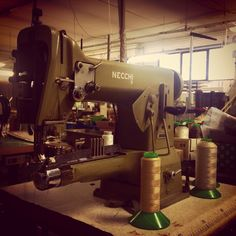 A true Italian story. Also the sewing machine is Italian! Legendary Bag by moYma 100% Made in Italy