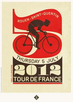 Tour de France poster series by Neil Stevens for Crayon On Fire