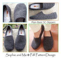 Ravelry: Plain Basic SC-Slippers pattern by Sophie and Me-Ingunn Santini
