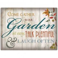 COME GATHER  Metal Wall Sign by Red Hot Lemon