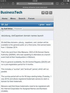 01 July 2014, BusinessTech