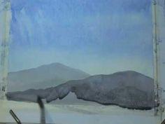 PART 2 - Beginners Watercolour- With Matt Palmer - YOUR FIRST PAINTING - PART 2:Mountains, house, birds
