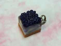 Cheesecake Charm  Blueberry Swirl Compote by SmalleyStudios, $6.00