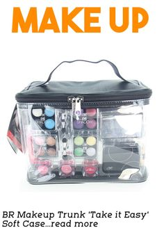 Take your complete makeup kit to go when you travel. This easy use complete make up kit case comes in a soft yet strong case. Great to stuff it in your larger suitcase. Comes with all the makeup you need, from head to toe! … (This is an affiliate link) Take It Easy, Make Up, Makeup You Need, Large Suitcase, Makeup Sets, Traveling By Yourself, Larger, Trunks, Lunch Box