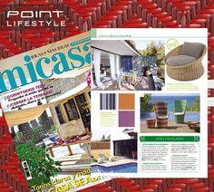 La revista Mi Casa habla de nosotros, nos pone como ejemplo de variedad y colorido en el jardín. Además destaca en una fotografía los sillones Icpalli, tan de moda este año.