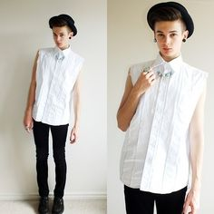 BLACK WHITE AND TURQUOISE (by Willem Horck) http://lookbook.nu/look/3301677-BLACK-WHITE-AND-TURQUOISE