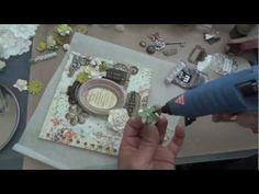 Graphic 45: Secret Garden Mini Album - Mixed Media cover tutorial by Arlene Butteflykisses