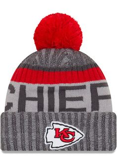 ecf948cf73a Kansas City Chiefs New Era 2017 Sideline Cold Weather Sport Knit Hat -  Graphite