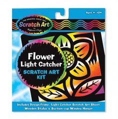 Flower Scratch Art | whatgiftshouldiget.com