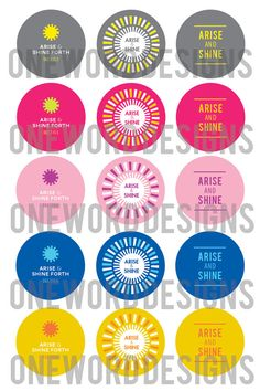 2012 Young Women Theme Bottlecaps Arise & Shine Forth