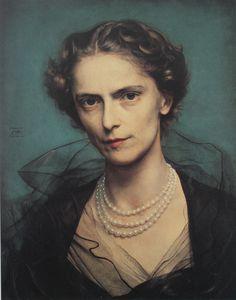 British lady, Pietro Annigoni