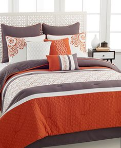 Riley 10 Piece Comforter Sets - Bed in a Bag - Bed & Bath - Macy's