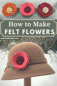 felt flower template In this tutorial, I'll show you how to make felt flowers and attach them to shoe clips, so you have different options to go with a felt hat. Mix and match to g Felt Diy, Felt Crafts, Fabric Crafts, Diy Crafts, Flower Crafts, Diy Flowers, Fabric Flowers, Material Flowers, Flower Svg