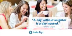 Life should be lived with laughter - never hold it back. #Smile #Invisalign #Natick