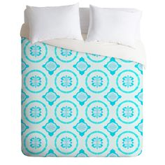 Elisabeth Fredriksson Crystal Flowers Duvet Cover   DENY Designs Home Accessories