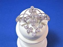 Exquisite Downton Abbey Edwardian Platinum, Diamond Vintage Pendant/Brooch