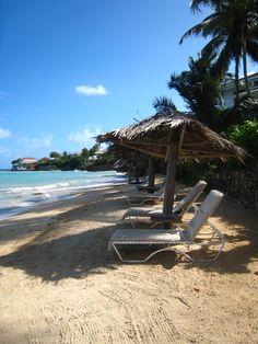 Quiet beach at Blue Waters Hotel, Antigua
