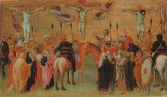 Maestro dell'Osservanza (Sano di Pietro?) -  Crocifissione - 1440-44 - Kiew, Khanenko Museum