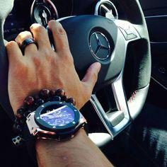 2014 CLA 45 AMG interior l Hublot watch