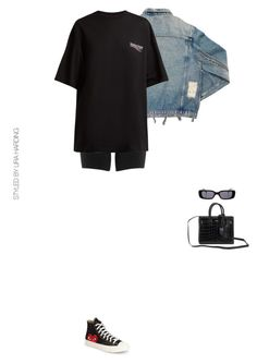 """""""Untitled #538"""" by stylingbyliraharding ❤ liked on Polyvore featuring SPANX, AMIRI, Balenciaga, Comme des Garçons, Yves Saint Laurent and Gucci"""