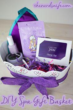 DIY Spa Gift Basket by thenerdswife