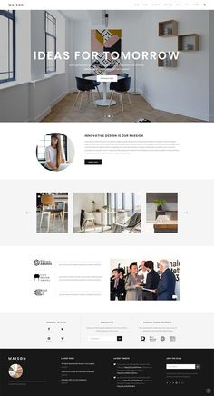 Maison WordPress theme has all it takes for a beautiful online presentation – . - Maison WordPress theme has all it takes for a beautiful online presentation – a large set of port - Interior Design Website, Website Design Layout, Homepage Design, Layout Design, Architecture Portfolio Layout, Architecture Panel, Architecture Design, Portfolio Architect, Drawing Architecture