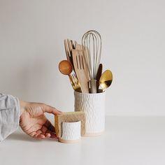 Ceramic Utensil Holder, Kitchen Utensil Holder, Kitchen Canisters, Kitchen Sink, Ceramic Wall Planters, Ceramic Plates, Succulent Hanging Planter, Pots, Kitchen Sponge